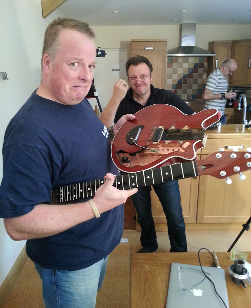 Me, with the disassembled Red Special,