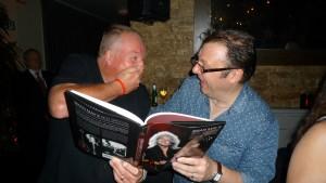Simon Bradley and Andrew Guyton share a joke. Bless.