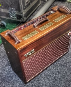 We've applied a filter to this shot of the AC30TB Collector's Edition to show off the cabinet mahogany's lovely grain. Simon apologises for the inherent lack of focus...